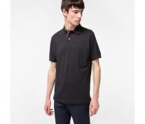 Slim-Fit Black Cotton-Piqué Polo Shirt With 'Artist Stripe' Placket