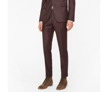 Slim-Fit Brown Wool-Cashmere Trousers