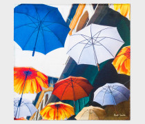 Umbrella Photo-Print Silk Pocket Square