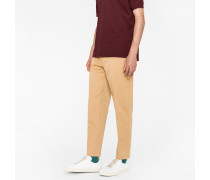 Standard-Fit Taupe Cotton-Linen Chinos