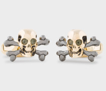 Gold Skull And Crossbones Cufflinks
