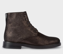 Black Metallic Suede 'Chesil' Boots