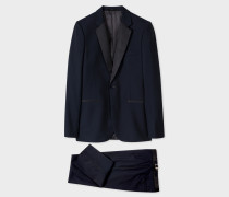 The Soho - Navy Tailored-Fit Wool And Mohair-Blend Evening Suit