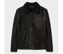 Reversible Black Shearling Jacket