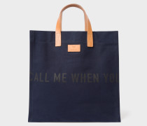 R.E.M. + Navy Canvas Tote Bag
