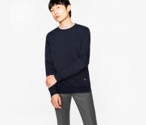 Navy Loopback-Cotton Sweatshirt With 'Rainbow' Motif