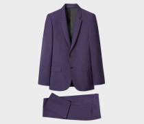 Mid-Fit Purple Wool Suit