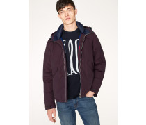 Damson Cotton-Blend Down-Filled Hooded Jacket