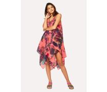 Pink 'Ocean' Print Cotton Dress