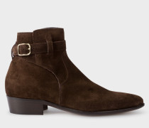 Dark Brown Suede 'Dylan' Boots