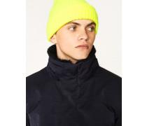 Neon Yellow Wool Beanie Hat