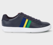Navy Leather 'Lawn' Trainers