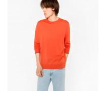 Coral Merino Wool Crew Neck Sweater