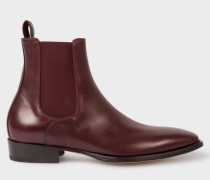 Bordeaux Leather 'Bobby' Chelsea Boots