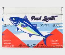 Leather 'Tuna' Print Credit Card Holder