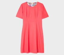 Coral Wool Shift Dress