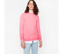 Pink Merino Wool Crew Neck Sweater