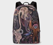 Canvas 'Monkey' Print Backpack