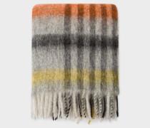 Multi-Coloured Check Pattern Wool-Blend Blanket