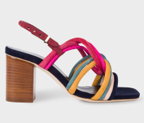 Multi-Coloured Suede 'Carla' Sandals