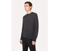 Dark Grey Crew-Neck Merino Wool Sweater