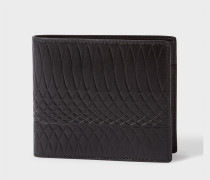 No.9 - Black Leather Billfold And Coin Wallet