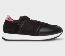 Black Leather 'Bold' Trainers