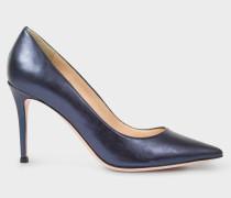 Navy Metallic Leather 'Keira' Shoes