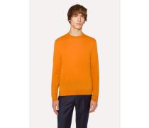 Burnt Orange Crew-Neck Merino Wool Sweater