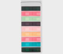 'Artist Stripe' Basket Weave Money Clip