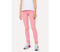 Skinny-Fit Pink Denim Jeans
