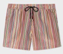 'Signature Stripe' Print Swim Shorts