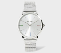 Unisex White And Stainless Steel 'Ma' Watch