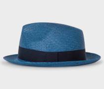 Blue Panama Straw Hat