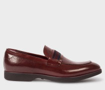 Burgundy Leather 'Bly' Loafers