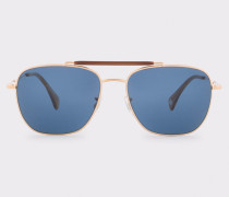 Gold, Forest & Blue 'Roark' Sunglasses