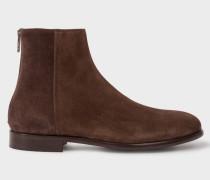 Dark Brown Suede 'Jean' Boots