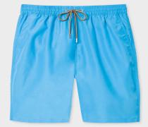Blue Long Swim Shorts