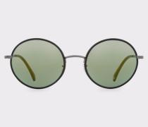Matte Onyx And Pewter 'Danbury' Sunglasses
