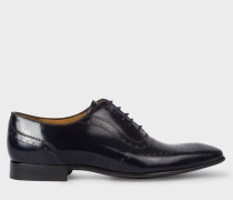 High-Shine Dark Navy Leather 'Adelaide' Brogues