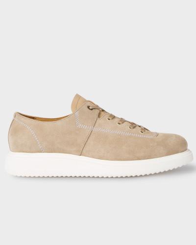 Paul Smith Herren Taupe Suede 'Koko' Shoes