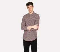Slim-Fit Light Pink Check Cotton Shirt