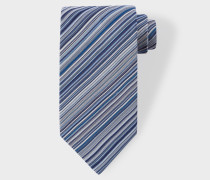Sky Blue Signature Stripe Silk Tie