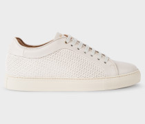 Off-White Mesh-Effect Leather 'Basso' Trainers