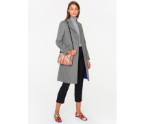 Grey Wool-Cashmere Epsom Coat