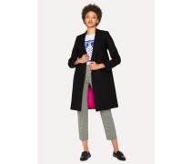 Black Wool-Cashmere Epsom Coat
