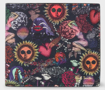 'Psychedelic Sun' Leather Billfold Wallet
