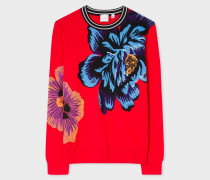 Red 'Ocean' Intarsia Sweater