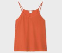 Orange Silk-Blend Cami Top