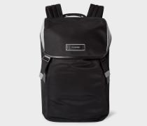 Black Reflective Flap Backpack